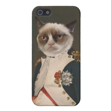 Grumpy Cat Classic Painting iPhone 5 Cover from Zazzle.com | Those crazy memes | Scoop.it