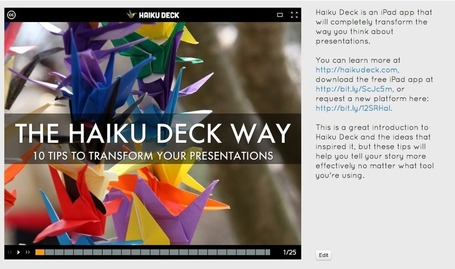 10 Winning Presentation Ideas from Haiku Deck | Digital Presentations in Education | Scoop.it