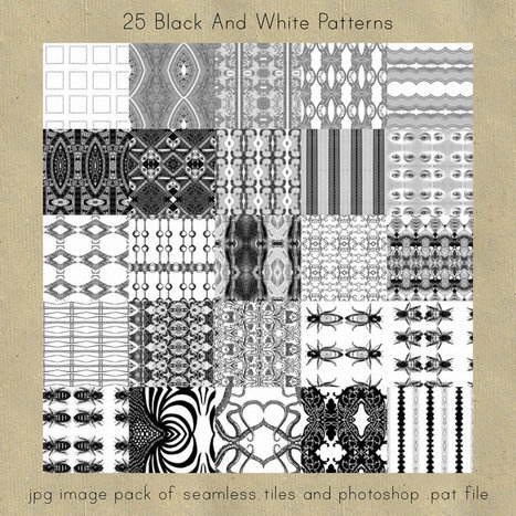 Black And White Seamless Patterns by cesstrelle on deviantART | Free Digital Scraps | Scoop.it