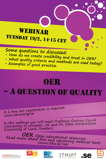 OER – a question of quality | OERSverige.se | OER & Open Education News | Scoop.it