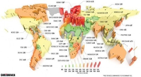 Example of Dimensional Map: Fuel Prices Around the World | MAPS  Ideas, Examples, Resources | Scoop.it