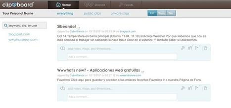 Clipboard – recortando y guardando lo que nos interesa de sitios web   Aplicaciones y Herramientas . Software de Diseño   Scoop.it