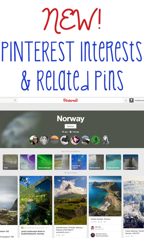 NEW! Pinterest Interests & Related Pins | Pinterest | Scoop.it