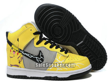 Pokemon Pikachu Nike Dunk High Sneakers | Captain Ameica Nike Shoes | Scoop.it