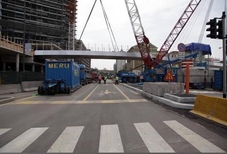 Posata la passerella su via Gioia  <br/>Sarà percorribile tra otto mesi | Comune di Milano | Scoop.it