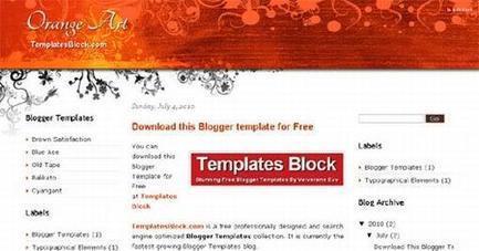 Free Art Orange Vector Web2.0 Blogger Template | Blogger themes | Scoop.it