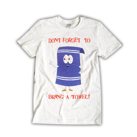 Towelie SOUTH PARK T-Shirt Unisex White Funny Don't Forget Your Towel Funny Shirt | Binary Options | Scoop.it