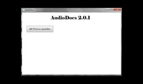 Convertir archivos de Word en audio con AudioDocs | Eines 2.0 | Scoop.it