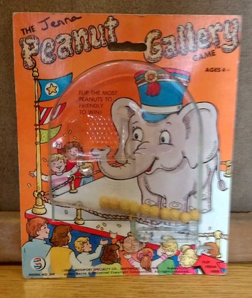 Retro Peanut Gallery Cardboard in Plastic Flip Game Toss Peanuts into Elephant's Trunk 1989 | Kitsch | Scoop.it