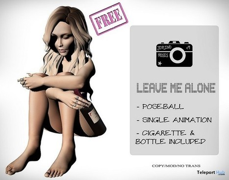 Leave Me Alone Pose September 2016 Subscriber Gift by Joplino | Teleport Hub - Second Life Freebies | Second Life Freebies | Scoop.it