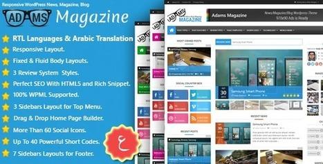 Adams - Themeforest Responsive WP News, Magazine, Blog | Blogging Tips and Tricks | Scoop.it