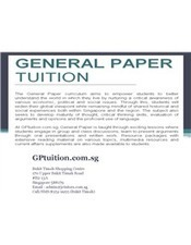 General Paper Tuition | General Paper Tutor | Scoop.it
