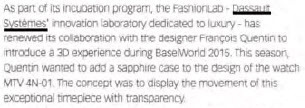 Sapphire case gets 3D experience | FashionLab | Scoop.it