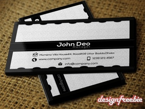 Black & White Free Business card templates Psd | Byron Bay photography | Scoop.it