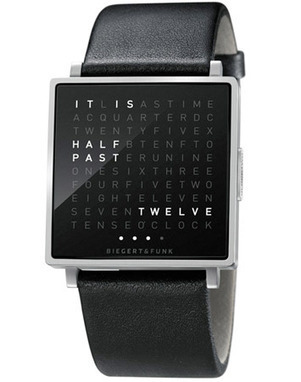 Bring the literal time to your wristwatch with QLOCKTWO W | Gadgetry | Scoop.it