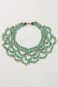 Bead Crochet Necklace | modern time | Scoop.it