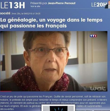 Vidéo du jour (13) : Généalogie sur TF1 | CGMA Généalogie | Scoop.it