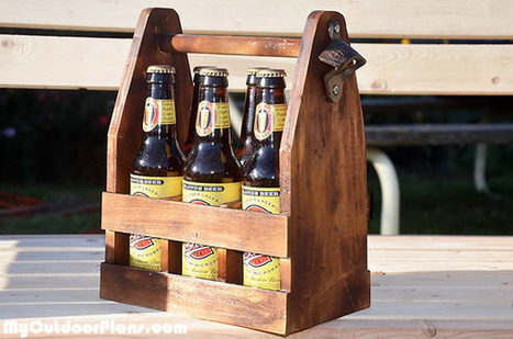 DIY Beer Caddy | MyOutdoorPlans | Free Woodworking Plans and Projects, DIY Shed, Wooden Playhouse, Pergola, Bbq | Garden Plans | Scoop.it