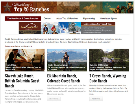 Dude Ranch Blog - Summer Dude Ranch Resources- Planing Your Ranch Vacation - Equitrekking | Dude Ranch Vacations | Scoop.it