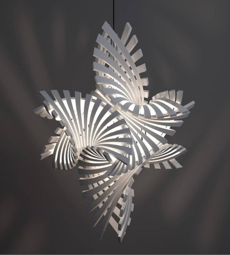 Complex Geometric Lamp Designs Produced with 3D Printing | 3d Print | Scoop.it