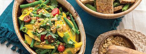 Green Bean and Mango Salad - Plant-Based Vegan Recipe | Vegan Food | Scoop.it