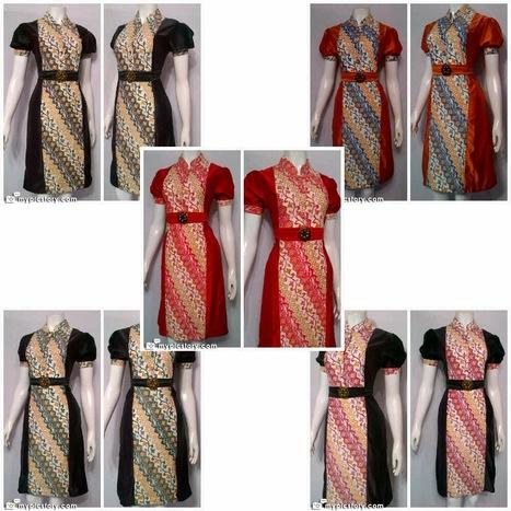 Model Baju Dress Batik Bagoes Seri Elizabeth - Batik Bagoes   Sarimbit Dress Batik Bagoes KODE : SD 2850   Scoop.it