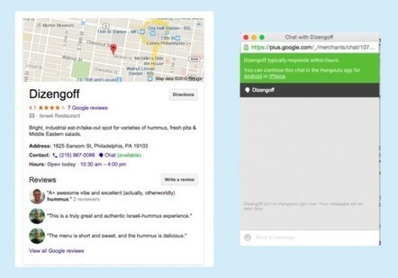Google Testing Hangout Chats in Local | Local SEO + Local Search Updates | Scoop.it