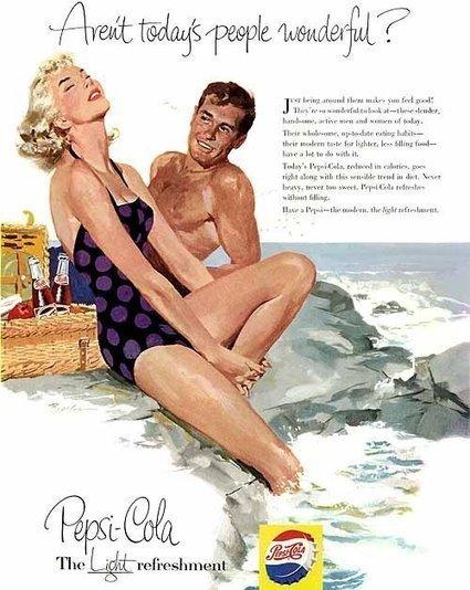Illustrated Pepsi Ads, 1950s | Retronaut | 1950's | Scoop.it