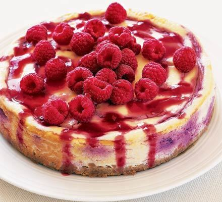 Baked raspberry cheesecake recipe - Recipes - BBC Good Food | Baking | Scoop.it