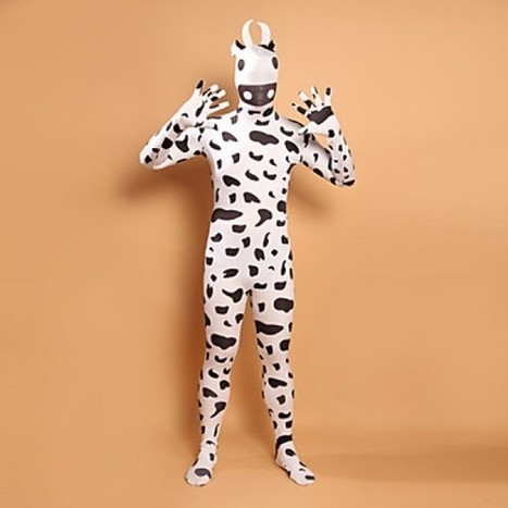 Black and White Full Body Costume|Black and White Cow Character Lycra Zentai Costume|Black and White Cow Character Lycra Full Body Zentai Cosplay Costume | Zentai Suits Cosplay | Scoop.it