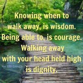 Quote of the day : walking away. | Favorite Quotes. | Scoop.it