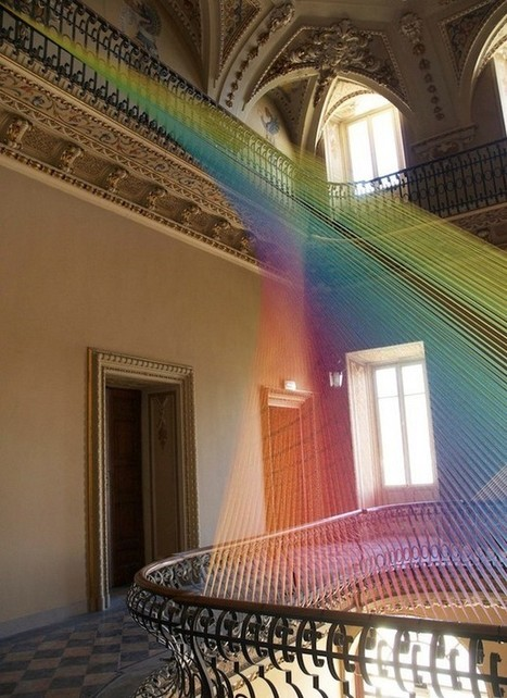 Textile art installation - mesmerizing arc in an old Italian estate | VIM | Scoop.it