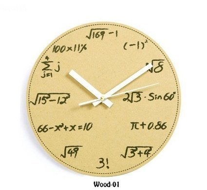 Geek Math and Science Pop Quiz Wall Clock | Geek Topics | Scoop.it