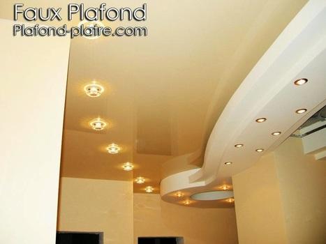 Conception plafond lumineux couloirs | Faux plafond en forme d'un papillon | Scoop.it
