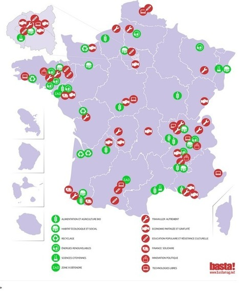 Carte des alternatives écologiques en France | Insect Archive | Scoop.it