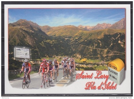 Hautes Pyrénées les grandes montées du tour de France Saint Lary Soulan Montée vers le Pla d'Adet - Delcampe.net | Christian Portello | Scoop.it