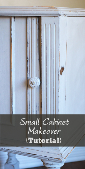 Small Cabinet Makeover in Paris Gray Chalk Paint | Cottage Furniture | Scoop.it