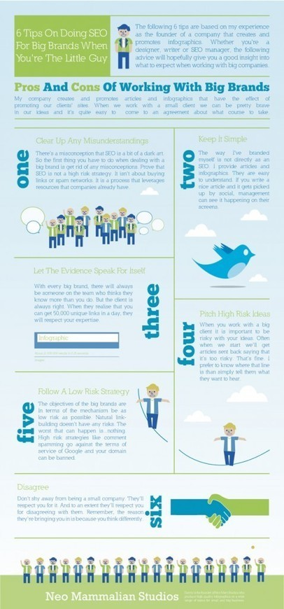 6 SEO Tips for the Little Guy [INFOGRAPHIC] | Digital-News on Scoop.it today | Scoop.it