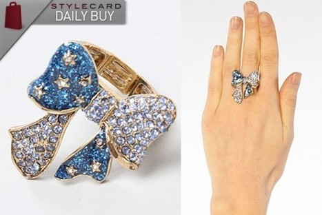 Daily Buy: The Heaven's To Betsey Bow Stretch Ring   StyleCard Fashion Portal   StyleCard Fashion   Scoop.it