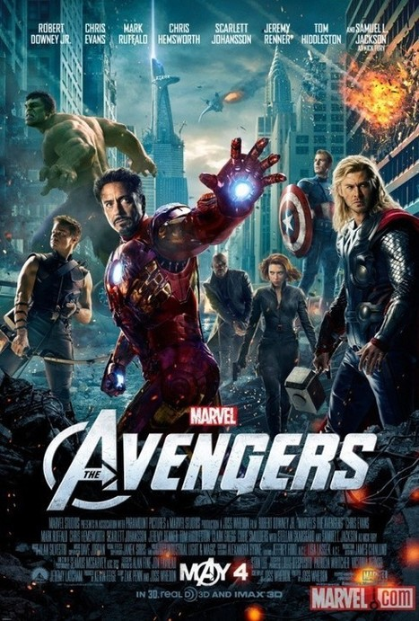 Heroes Ignore Falling Objects in New 'The Avengers' Movie Poster - ComicsAlliance   Comic Books   Scoop.it