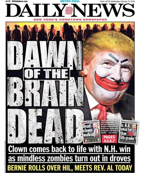 'Dawn of the Brain Dead' - Photos - New York Daily News front pages on the presidential election | Current Events, Political & This & That | Scoop.it