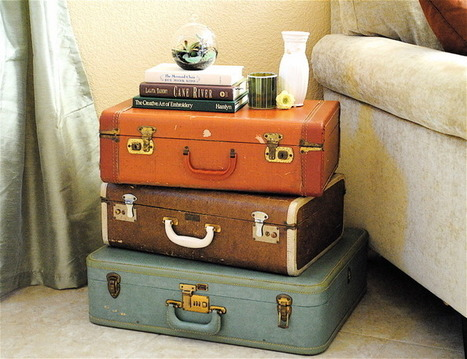 Vintage Suitcases for Stylish Storage | Home & Office Organization | Scoop.it