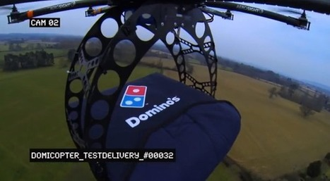 Domino's Tests Flying Pizza Delivery Drones | Issues Effecting Transformational Learning | Scoop.it