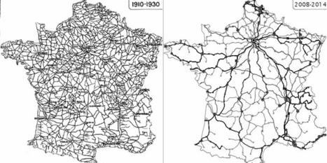 Le réseau ferroviaire français s'est énormément contracté depuis 80 ans | Nouveaux paradigmes | Scoop.it