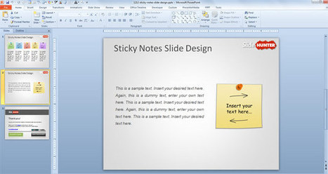 Free Sticky Notes PowerPoint Template with Colored Post It   Business process   Scoop.it