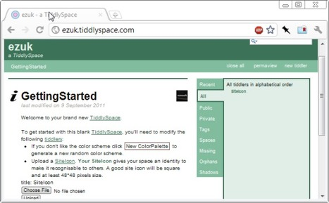 Create A Free Personal Wiki For Your Notes With TiddlySpace | tiddlywiki | Scoop.it