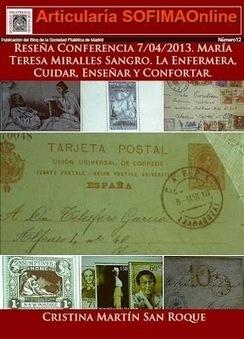Sociedad Filatélica de Madrid: Articularía de SOFIMAOnline12. Reseña Conferencia 7/04/2013. María Teresa Miralles. La Enfermera, Cuidar, Enseñar y Confortar. | SOFIMA al Día | Scoop.it