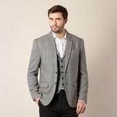 Big and Tall Designer Grey Herringbone Blazer - Just Be Fancy | Online Clothes for Men | Scoop.it