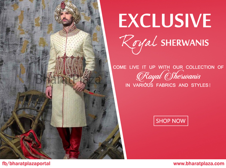 Get Groom Sherwanis Exclusively on Bharatplaza! | Online Shopping India | Scoop.it