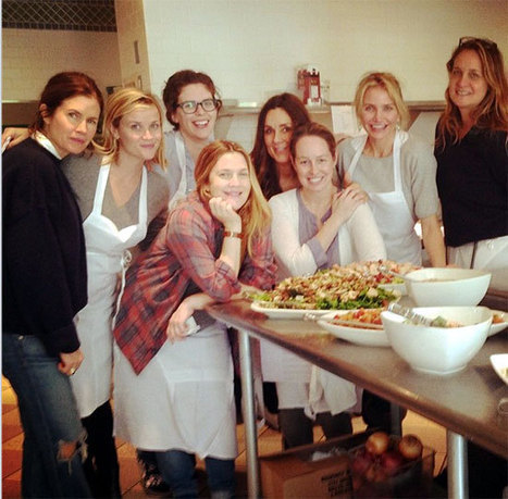 BFFs Cameron Diaz, Reese Witherspoon & Drew Barrymore Take An Italian ... - Starpulse.com | Food Meditations Time | Scoop.it